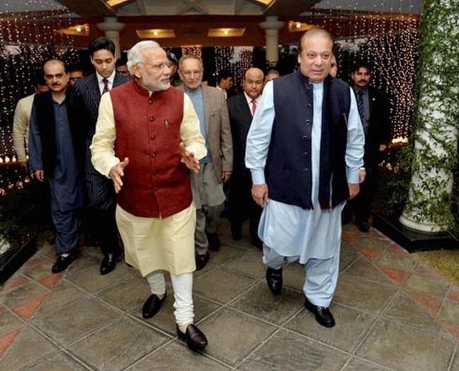 Modi's favourite dish 'saag' at Sharif's home