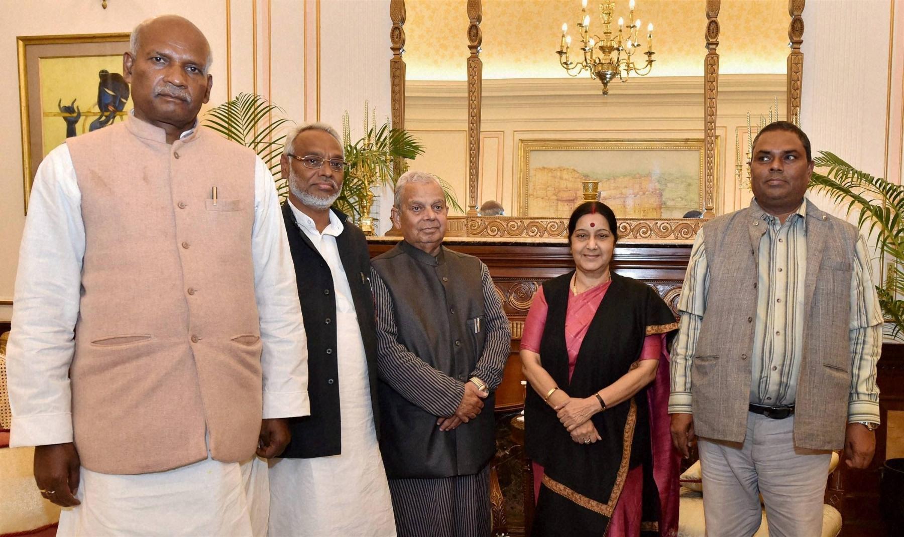 Nepal's Madhesi leaders meet Sushma Swaraj