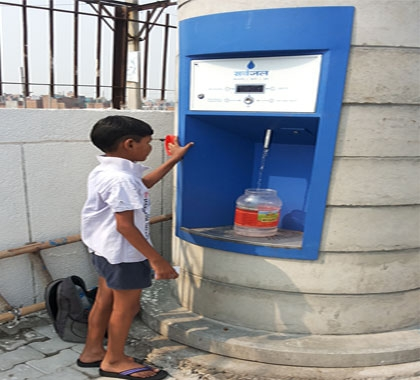 Pure water @ 10 paise per litre through ATM