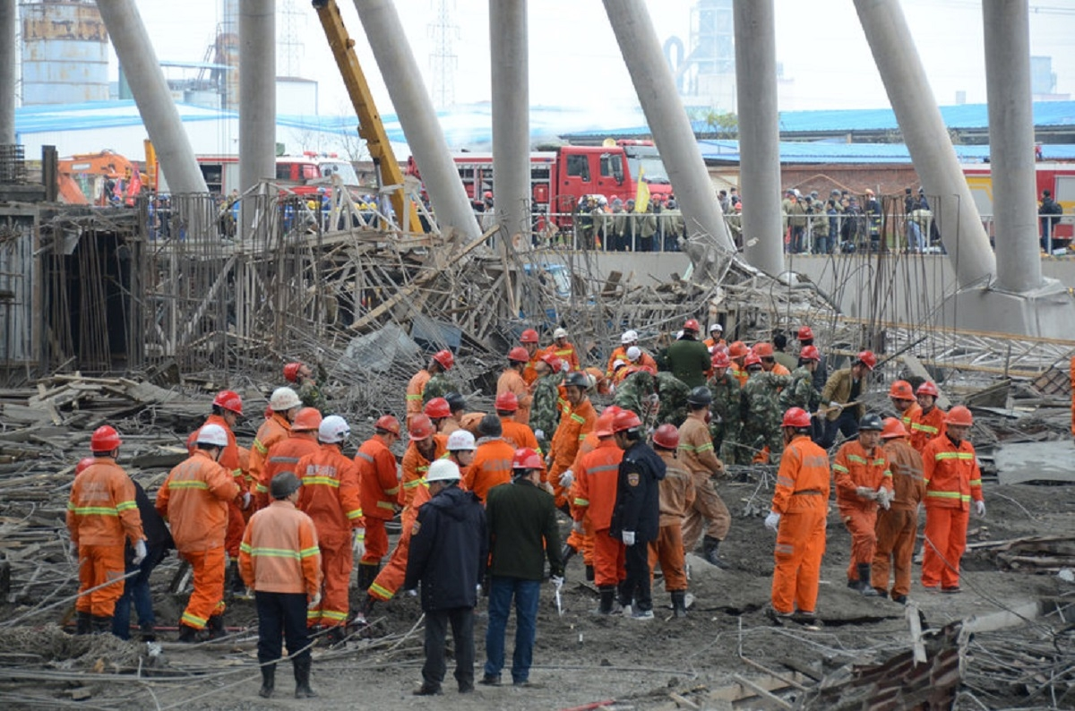 67 killed as under construction platform collapses in China