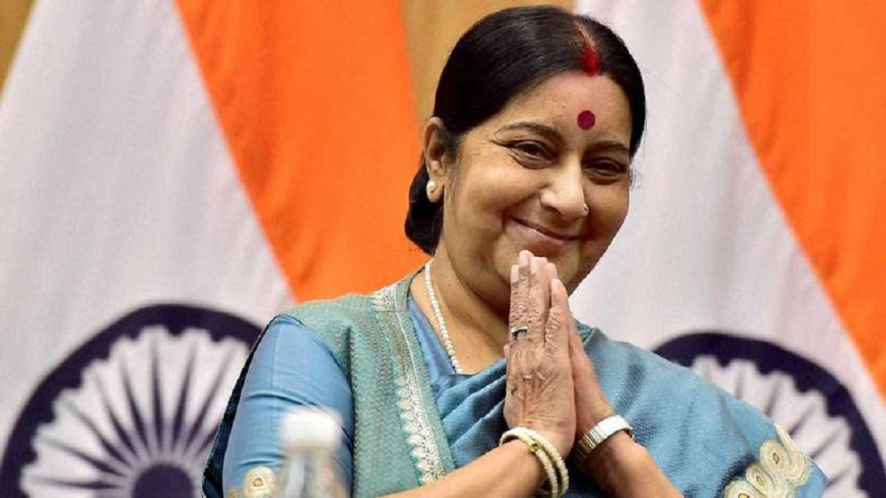 Sushma Swaraj in list of 15 Global Thinkers