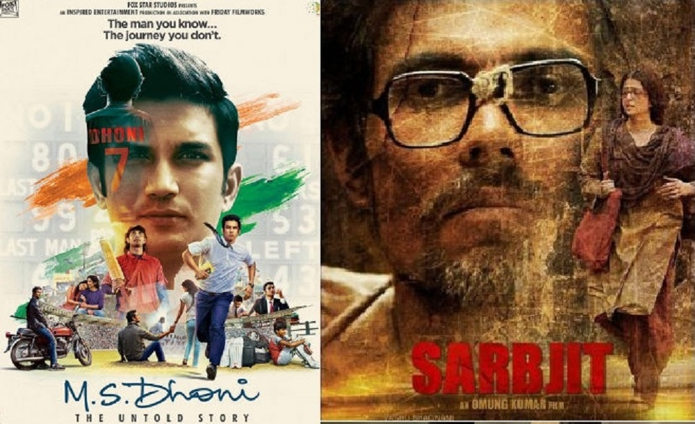 MS Dhoni..., Sarbjit make it to Oscars