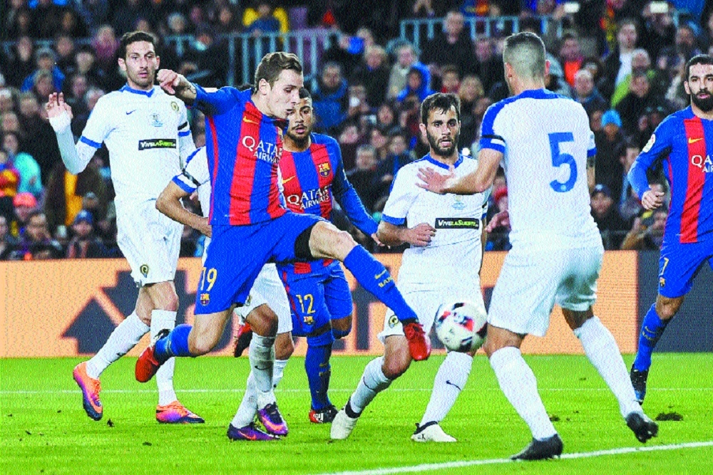 Barcelona's reserves rout Hercules 7-0 in Copa del Rey
