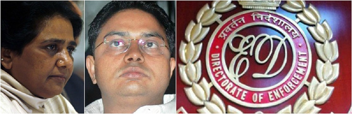 ED detects Rs 1.43 cr in Maya's brother's account, Rs 104 crore in BSP account