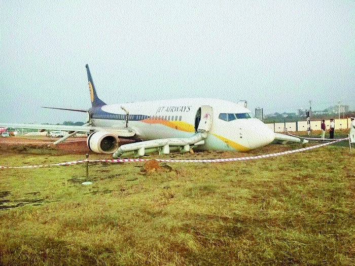 Plane skids off runway in Goa; major mishap averted in Delhi