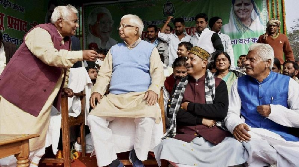Lalu stages dharna over note ban