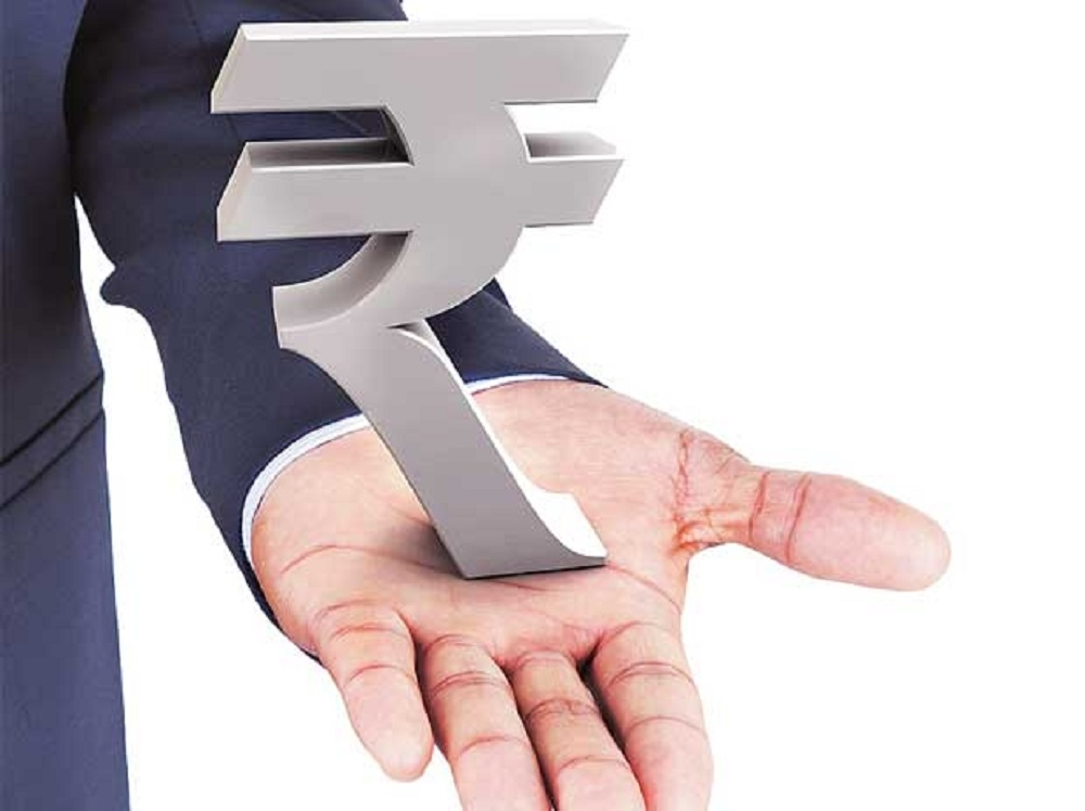 Rupee nears 1-mth high, soars 27 paise to 67.36