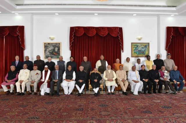 Adhere to principles enshrined inConstitution: Pranab to Governors