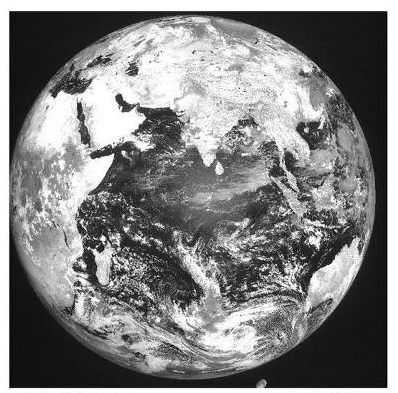 The first images of earth with India in focal point taken by the advanced weather satellite INSAT 3DR