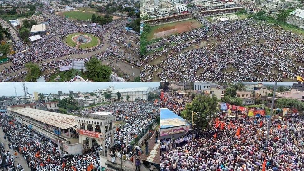 People participate in Maratha Kranti Morcha protest against Kopardi rape case in Ahmednagar