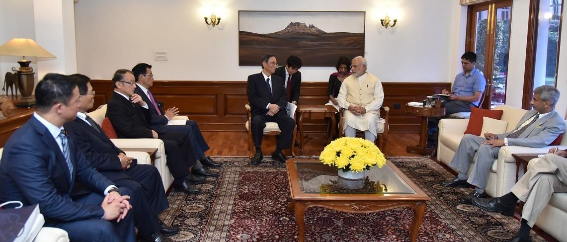 The Members of the Japan India Parliamentarians Friendship League calls on the PM Shri Narendra Modi in New Delhi