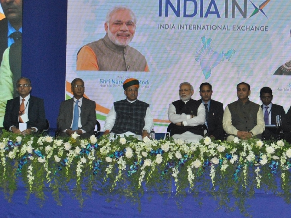 PM opens International Exchange in Guj