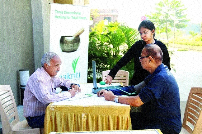 Aakriti Nature Cure Centre organises free health camp
