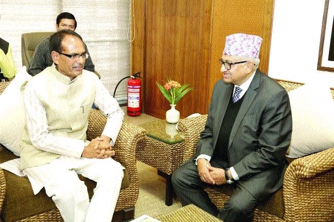 Nepal Ambassador Upadhyay meets Chief Minister Chouhan