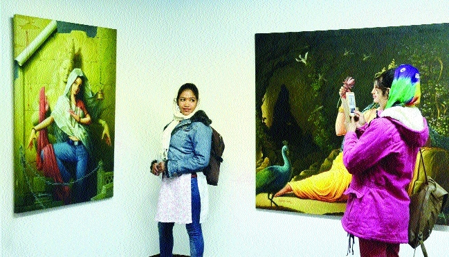 Paintings at Bharat Bhawan pulling crowds