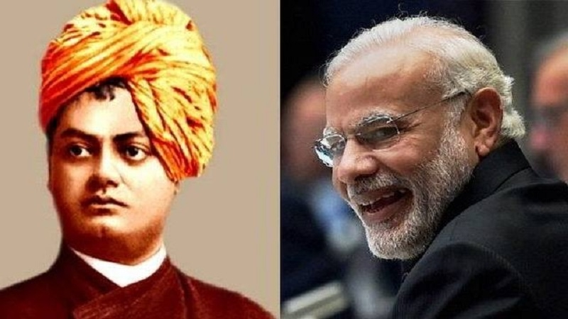 Madhav, Sinha compare Modi to Vivekananda
