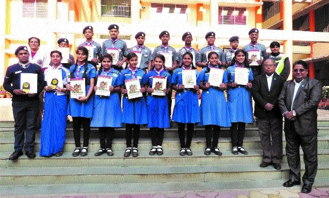St Montfort School's 9 Scouts, 7 Guides take part in 17th National Jamboori at Mysuru