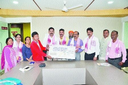 Vivekanand Society donates Rs 1.25 lakh to Uttar Purvanchal Janjati Seva Samiti