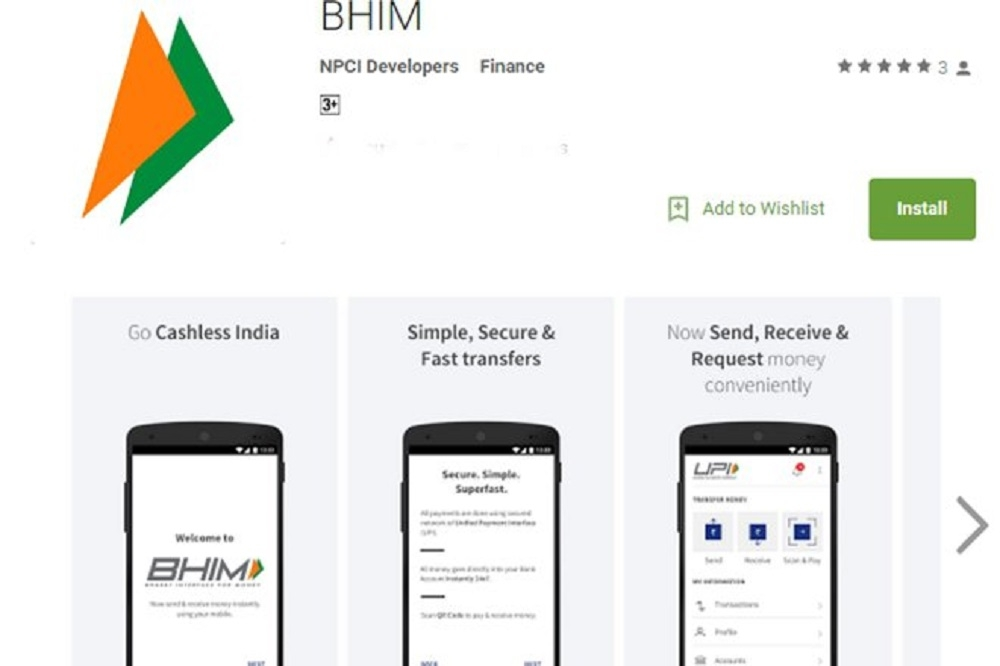 'BHIM downloaded 3 mn times, top app in India'