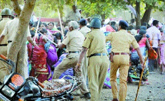 Stone pelting, lathi-charge during 'Nangar' morcha leave more than 12 injured