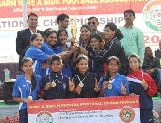 C'garh women team shines at Nine 'A' Side Football