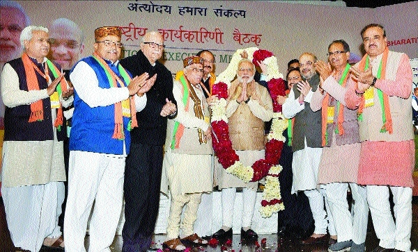 Modi, Shah inaugurate party National Executive in Delhi