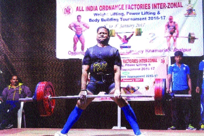 Ordnance Factories meet: Billore bags gold in 39-kg powerlifting