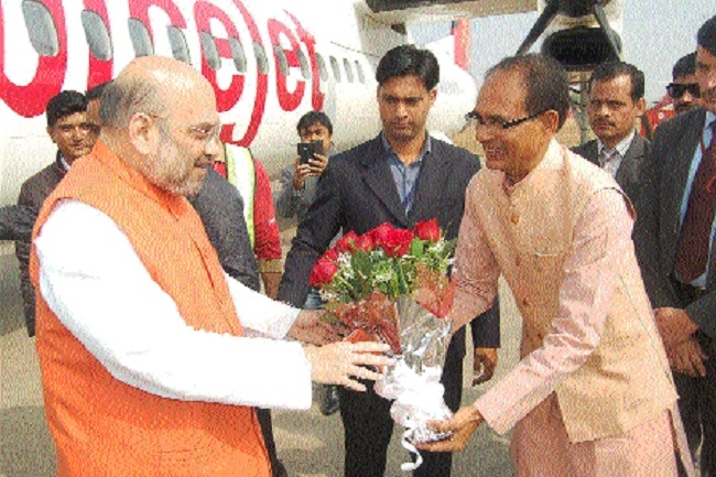 Amit Shah accorded rousing welcome