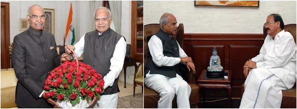 TN Governor Purohit meets President, Vice-President