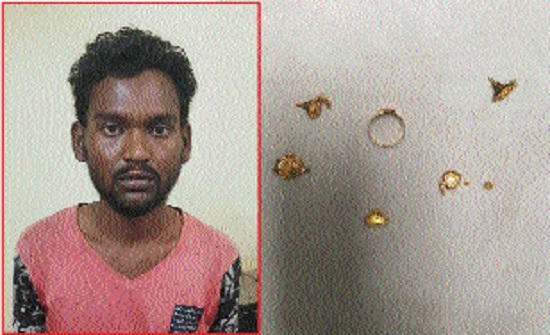 Crime Branch arrests thief, recovers gold ornaments