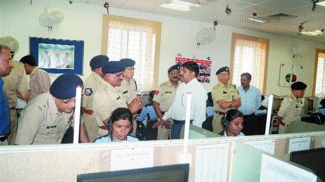 NPA officials visit police control room