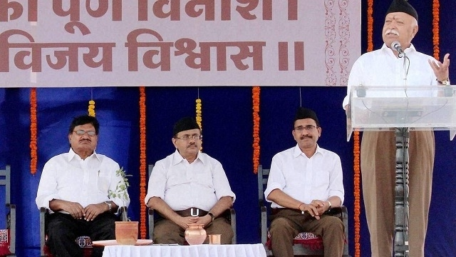 RSS chief praises Modi Govt for handling national issues effectively