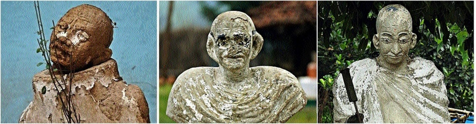 Statues of Mahatma Gandhi become victims of negligence
