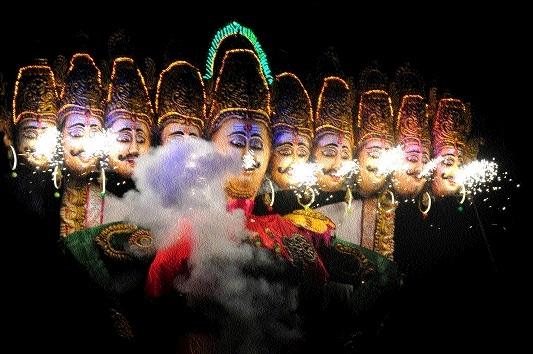 Raipurians celebrate Dussehra with zeal