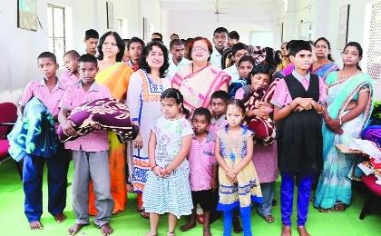 MOIL Eves Club members visit Divya Jyoti Mati Mandh School