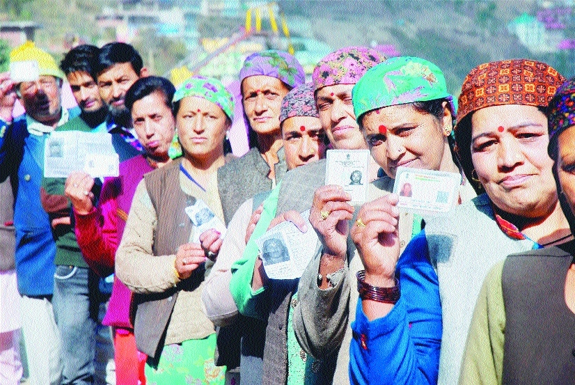 Record 74% polling in Himachal