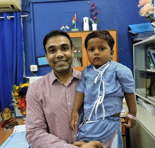 3-yr-old kid undergoes lifesaving surgery at NHMMI Hospital