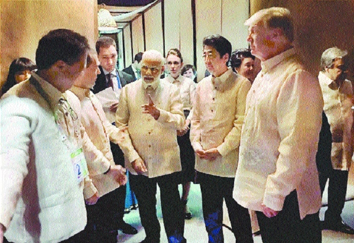 PM reaches Manila to attend ASEAN-India, East Asia summits