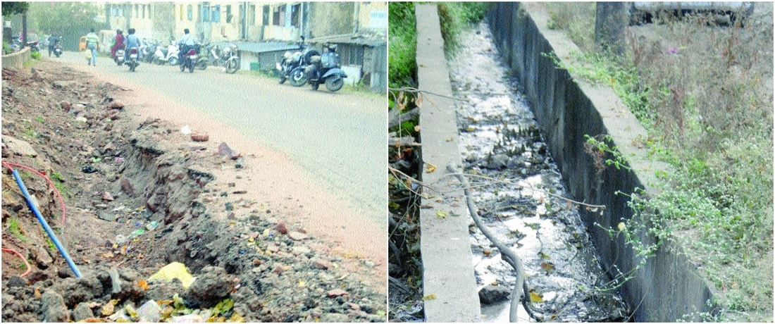 Potholed roads, clogged drainage, garbage trouble locals