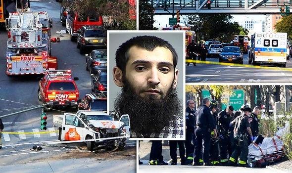 Terrorist mows down 8 by truck in Manhattan