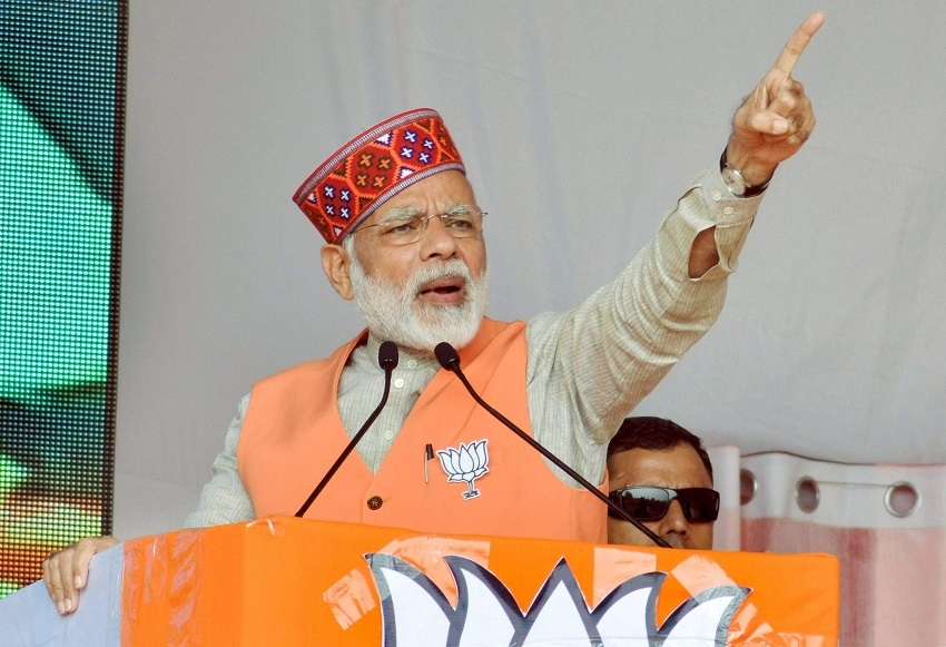 Cong has become a 'laughing club', says Modi in Himachal