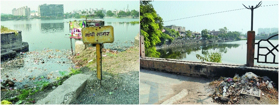 NMC's negligence turns historic Shukrawari lake into a dirty place