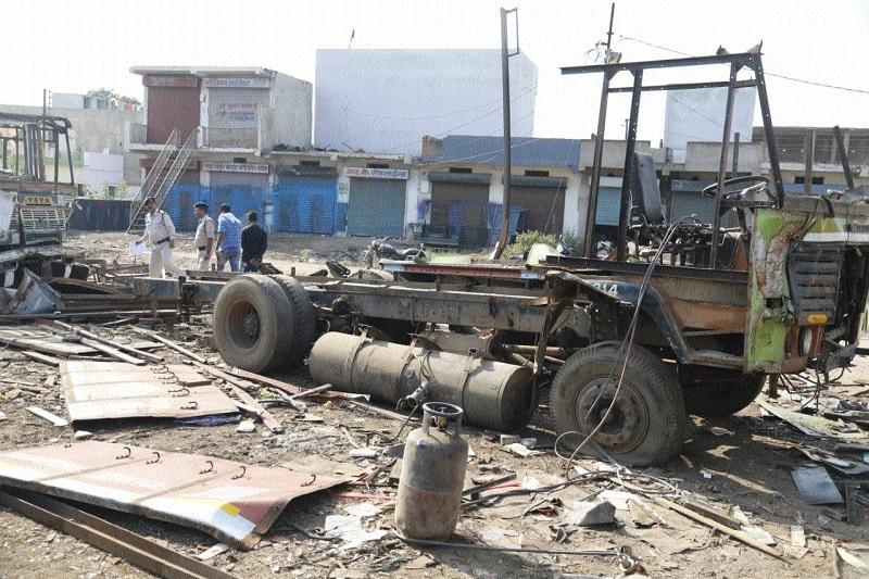 Two scrap-dealers' godown raided