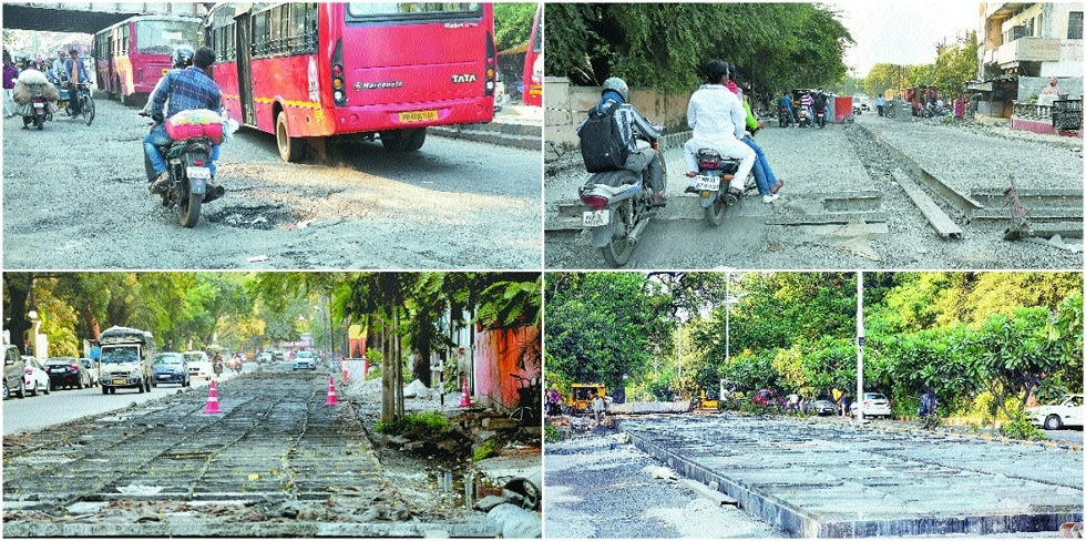 Incomplete cement roads add to chaos, congestion