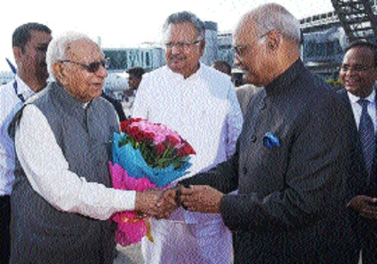 President Ram Nath Kovind accorded an emotional adieu