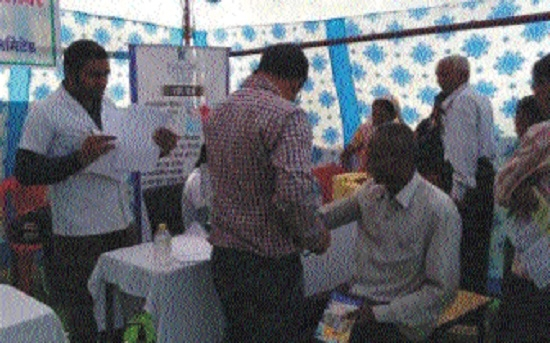 250 villagers benefited during health check-up camp