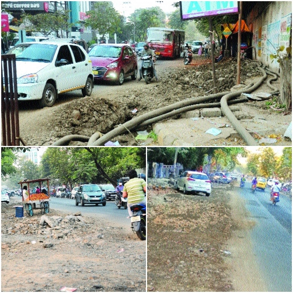 Back-to-back development work testing patience of Abhyankar Nagar residents