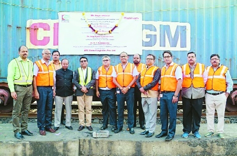 CONCOR flags off full rake of US-bound M&M tractors