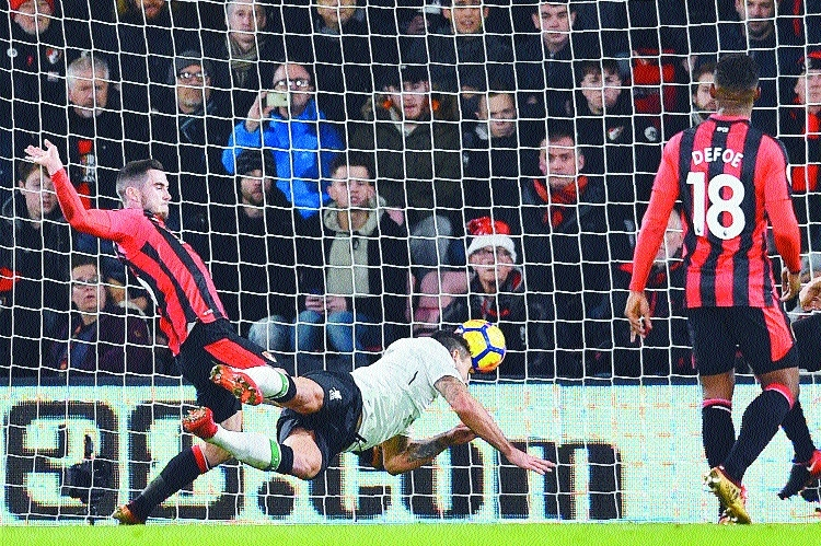 Liverpool put four past Bournemouth