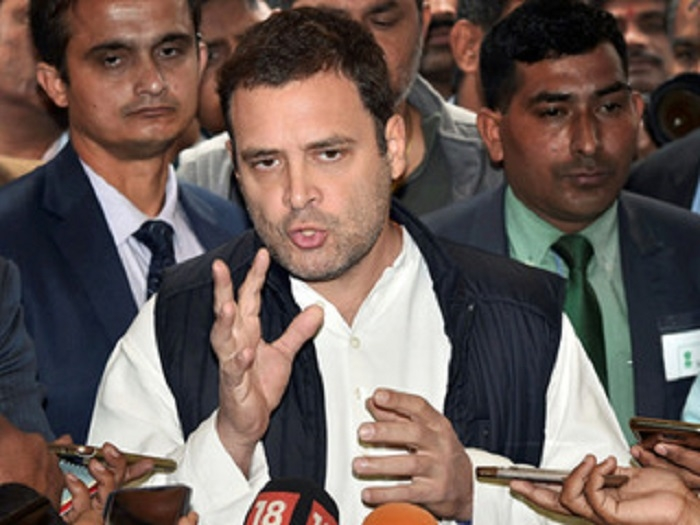 Massive jolt to BJP, says Rahul; 'He is under illusion', comes reply